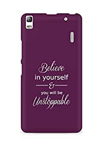 AMEZ believe in yourself and you will be unstoppable Back Cover For Lenovo K3 Note