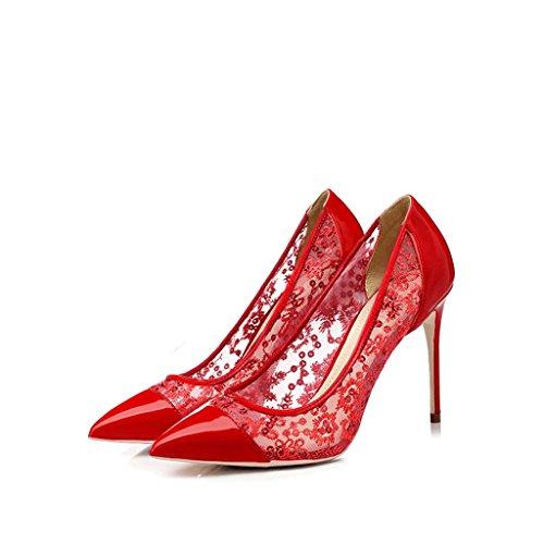 Chaussures à talons hauts pointues avec des chaussures respirantes de 10 cm