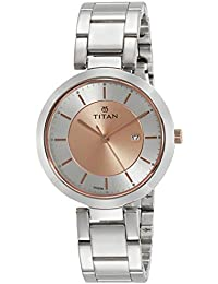 Titan Ladies Neo-Ii Analog Rose Gold Dial Women's Watch-NK2480KM01