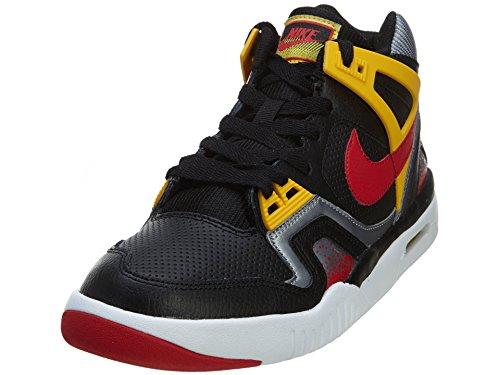 Nike Tech Challenge 2 (gs) Big Basketball Shoe654435 002, 6 Black/Unvrsty Red-Metallic Cl Grey