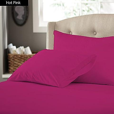 Ropa de cama egipcio - 600tc juego para cama de con Set de funda de edredón y faldón para cama Euro rey IKEA rosa de 100% percal de algodón egipcio