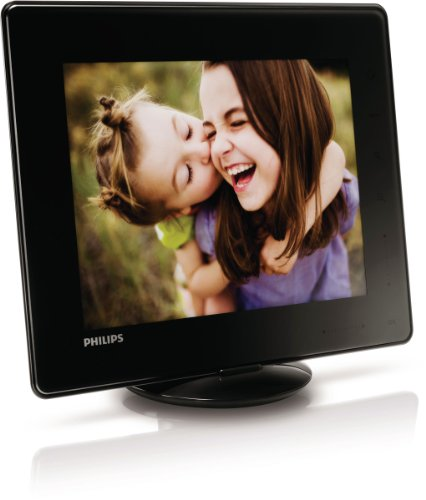 Philips SPH8408 Digitales Photo Book Bilderrahmen (20,3 cm (8 Zoll) Display, 4:3, 1 GB  interner Speicher, Multislot Kartenleser) schwarz Bilderrahmen Von Philips