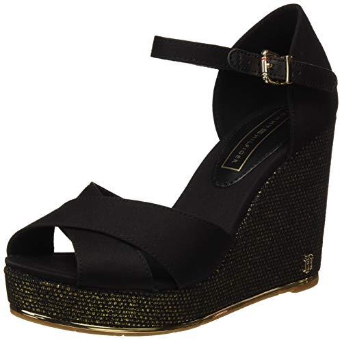 457f841150ea Tommy Hilfiger Feminine Wedge Sandal Basic, Plateau Donna, Nero (Black 990),
