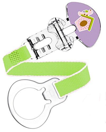 Preisvergleich Produktbild MAM Clip für Mädchen - Motiv Vogelhaus - Schnullerband