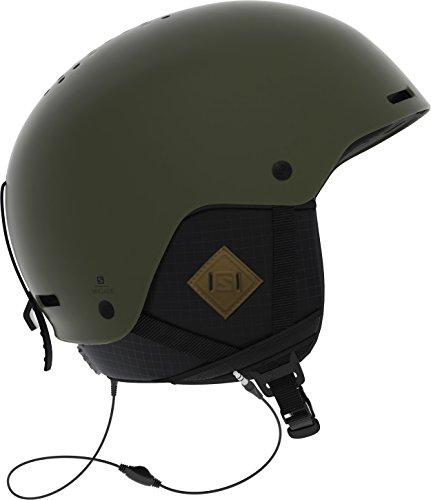 Salomon Herren Brigade+ Audio Ski- und Snowboardhelm, mit Audiosystem, ABS-Schale, Smart-Technologie, Kopfumfang 56-59 cm, grün (Olive Night), Größe M, L40536100