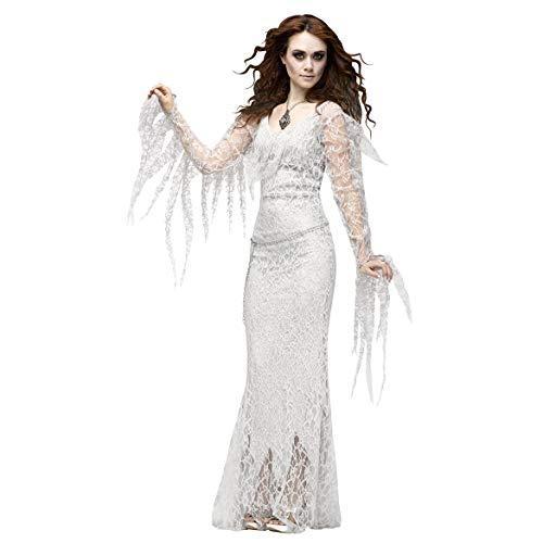Ball Kleid Kostüm Masquerade - YRE Vampire Ghost Bride Kostüm Rollenspiel, Karneval Osterdeon-Kleid, Masquerade Ball Kostüm,L