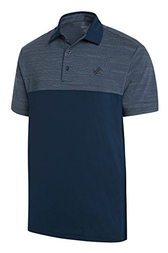 Jolt Gear Dri-Fit Golf Shirts für Männer - Feuchtigkeitstransport Kurzarm Polo Shirt, Herren, Midnight Blue, X-Large - Big And Tall Baumwolle Kleid Shirt