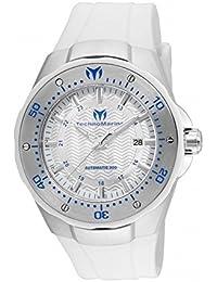 TECHNOMARINE MEN'S MANTA 48MM WHITE SILICONE BAND AUTOMATIC WATCH TM-215082