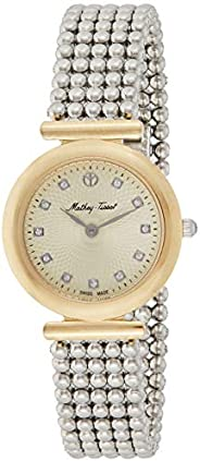 Mathey Tissot allure Women's Gold Dial Stainless Steel Band Watch - D53