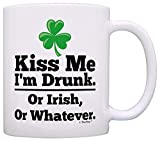 Tazze da caffè irlandesi Kiss Me I'm Drunk or Irish o Whatever Funny St Patricks Day Tazza da caffè irlandese Tazza da tè Bianco
