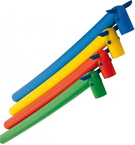 Beco Schwimmnudel in Pferdeoptik, Schaumstoff, biegbar, Kindergröße Gelb gelb