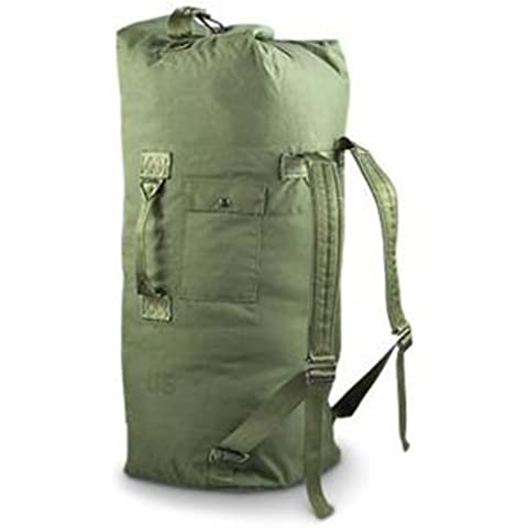 Military Outdoor Clothing Previously Issued U.S. G.I. Olive Drab Cordura Duffle Bag