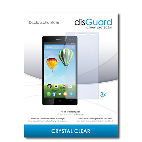 disGuard® Bildschirmschutzfolie [Crystal Clear] kompatibel mit Haier Phone L50 [3 Stück] Kristallklar, Transparent, Unsichtbar, Extrem Kratzfest, Anti-Fingerabdruck - Panzerglas Folie, Schutzfolie