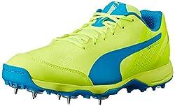Puma Mens Safety Yellow and Atomic Blue Cricket Shoes - 8 UK/India (42 EU)