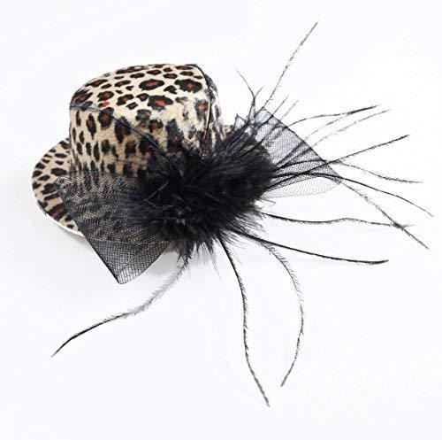 AM Hut Mini für Erwachsene Karneval Mütze Halloween Leopard Junggesellinnenabschied