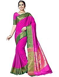 Aarti Apparels Women's Designer Bangalori Silk Saree_Pink_BANGLORI SILK-09
