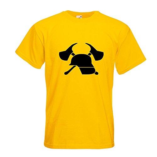 KIWISTAR - freiwillige Feuerwehr T-Shirt in 15 verschiedenen Farben - Herren Funshirt bedruckt Design Sprüche Spruch Motive Oberteil Baumwolle Print Größe S M L XL XXL Gelb