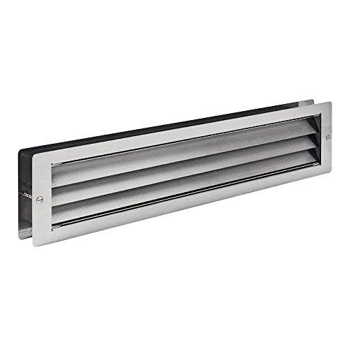 Kamin-gitter-türen (MLS Edelstahl Lüftungsgitter 465 x 106 mm für Türen Abdeckungen Einlegeböden zwischen 37 - 55 mm 0180-300)