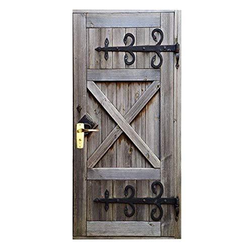 Baffect Pegatinas puerta 3D Puerta madera DIY Papel