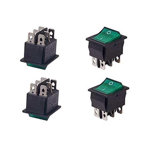 Switches 6pcs Ac 250v 16a 125vac 20a On/off Dpdt Panel Mount Snap In Boat Rocker Switch To Reduce Body Weight And Prolong Life