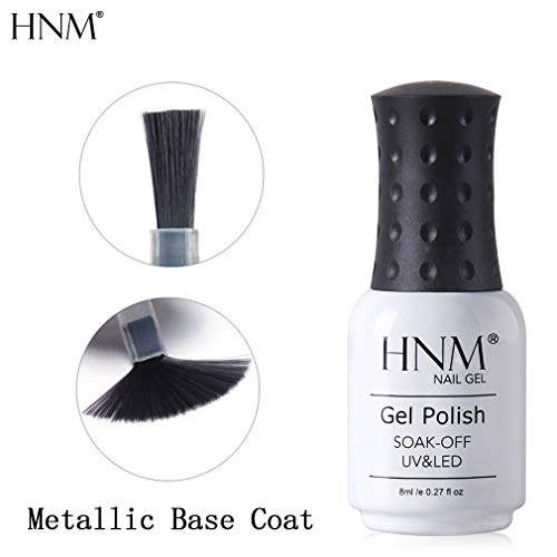 HNM Gel Vernis À Ongles Métal Base Coat Nail Laque Extension Gel UV Vernis Semi Permanent LED Soak Off Manucure Salon 8ML