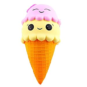 Squishy Toy, KEERADS Cute Squeeze Lemon Cream Scented Slow Rising Soft Stress Relif Toy Gift (Ice Cream)