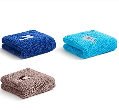 CDOY Baumwolle Kinder Waschen Gesicht Handtuch Cartoon Weichen Kleinen Quadratischen Handtuch 3Er Pack