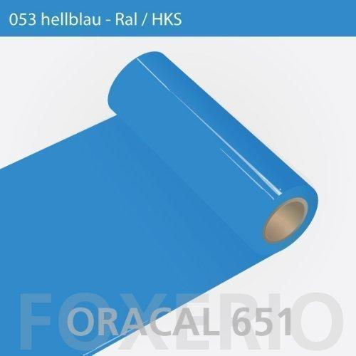 Orafol - Oracal 651 - 31cm Rolle - 5m - Hellblau / glanz, A43oracal - 651 - 31cm - 20 - kl - Autofolie / Möbelfolie / Küchenfolie