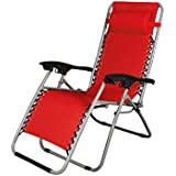 Story@Home Adjustable Folding Lounge Recliner Folding Chair (Red)