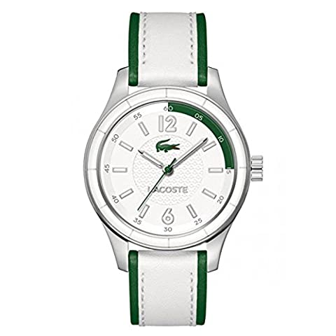 Lacoste Sydney Stainless Steel White & Green Leather Womens Fashion Watch