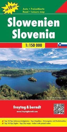 Slowenien, Autokarte 1:150.000, Top 10 Tips, Freytag Berndt Autokarten (freytag & berndt Auto + Freizeitkarten) (Spitzen-top Spanische)