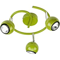 Mathias 3360071 Pop Spot Light spirale 3 x 35 W GU10 230 V Altezza 13,5 centimetri Diametro 25 cm, Vert Métal, GU10 35 | wattsW 230 | V