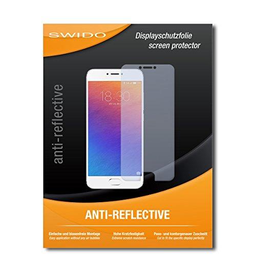 SWIDO Schutzfolie für Meizu Pro 6 [2 Stück] Anti-Reflex MATT Entspiegelnd, Hoher Härtegrad, Schutz vor Kratzer/Bildschirmschutz, Bildschirmschutzfolie, Panzerglas-Folie