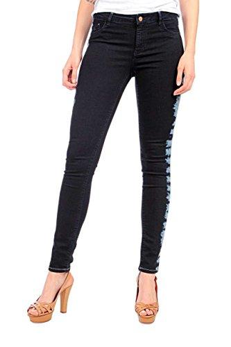Maison Scotch Damen Jeans Skinny Legging Dunkelblau, Jeanshose für Frauen, Legging Fit La Voyage, Gr. 25/32, Türkis (48 - denim blue) (5-pocket-flare Jeans)