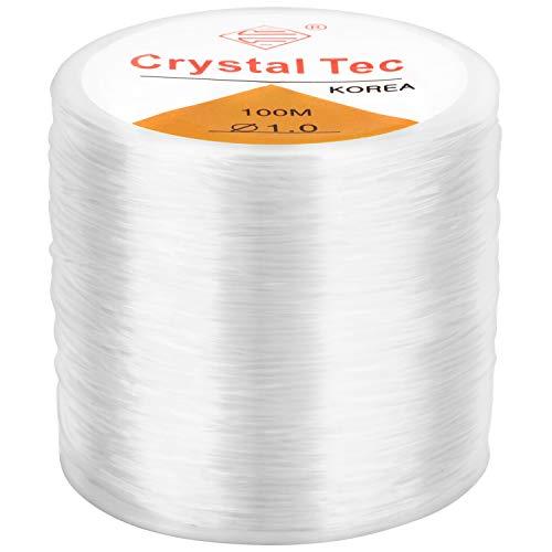 LUTER 1mm Pulsera elástica Cuerda cuerda Claro elástico