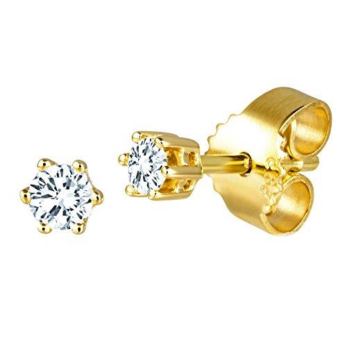 Diamond Line Diamant-Ohrstecker Gelbgold 585 mit 2 Brillianten 0.10 ct. Lupenrein Preisvergleich