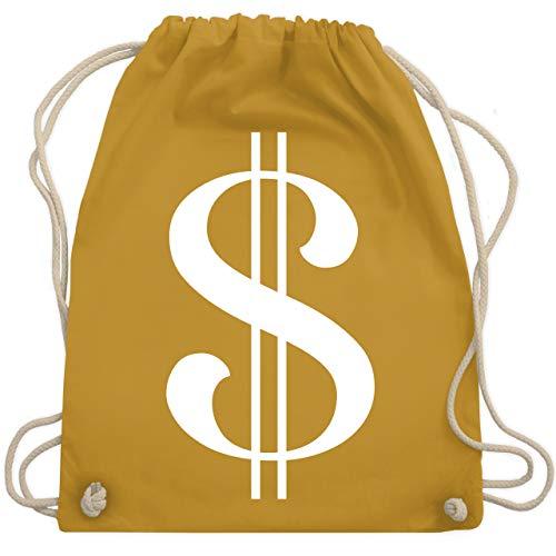 Kostüm Funny Idee - Karneval & Fasching - Dollar Kostüm weiß - Unisize - Senfgelb - WM110 - Turnbeutel & Gym Bag