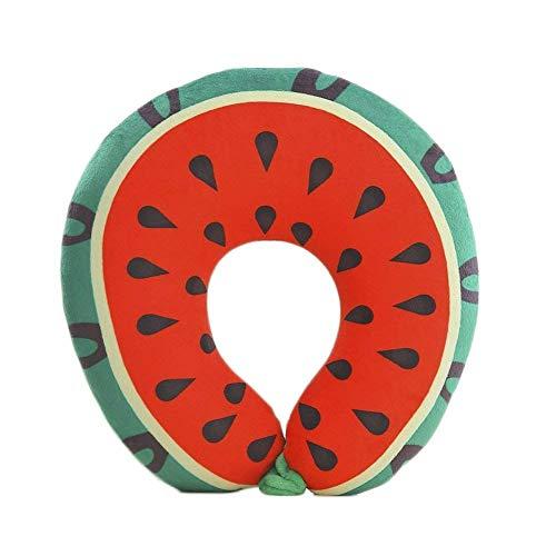 Eeayyygch Nette Fruchtform Hals U-Form Kissen Weiche Stofftier Geschenk für Sofa Büro Dekoration...