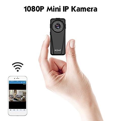 INSMA Mini Caméra Cachée Espion WIFI Enregistreur 1080p HD vidéo Caméra secrète Caméra de surveillance Voiture DVR Multifonction Avec détection de mouvement PIR Vision-Nocturne