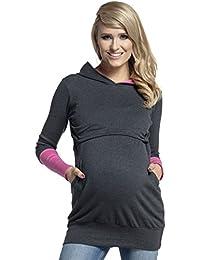 Happy Mama. Para mujer sudadera capucha panel de la lactancia top premamá. 137p