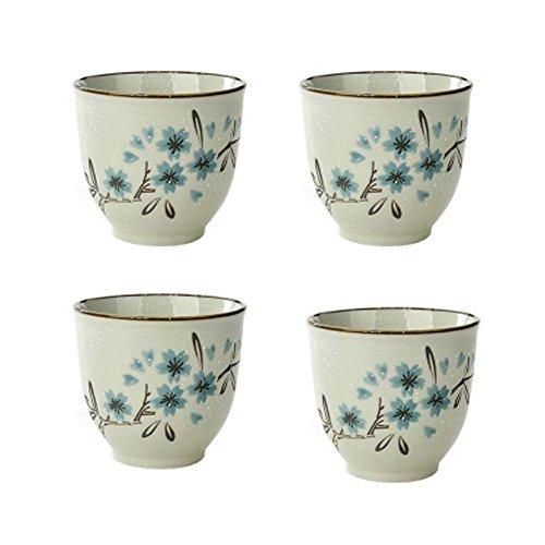 Lot de 4 porcelaine chinoise Teacups tasses en céramique thé petits Teacups grand cadeau [C]