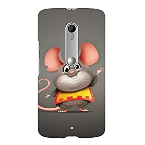 Clapcart Animated Mouse Printed Mobile Back Cover Case For Motorola Moto X Play -Multicolor