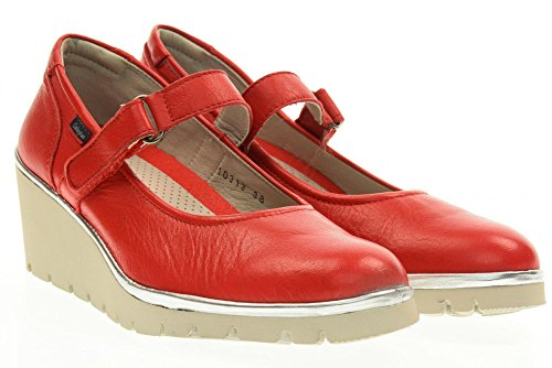 CALLAGHAN scarpe donna ballerine con zeppa 10313 ROSSO Rosso
