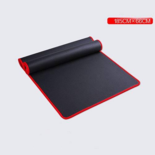 matte Rutschfeste Fitness tanzmatte weibliche geschmacklos Yoga Matte anfänger Yu Kaffee pad Hause bodenmatte springseil matten JIA mat (Farbe : Schwarz) ()