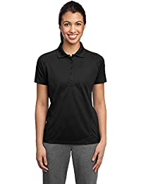 Sport-Tek® Ladies Dri-Mesh® Pro Polo. L474 Black 4XL