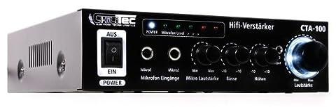 ChiliTec Amplificateur Hi-Fi compact cinch stéréo CTA-100 100W