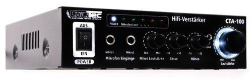 100-Watt-HiFi-Verstrker-Kompakt-Cinch-In-Stereo-CTA-100