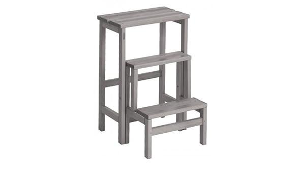 Valsecchi su e giù 3 gradini scaletta sgabello in legno di faggio