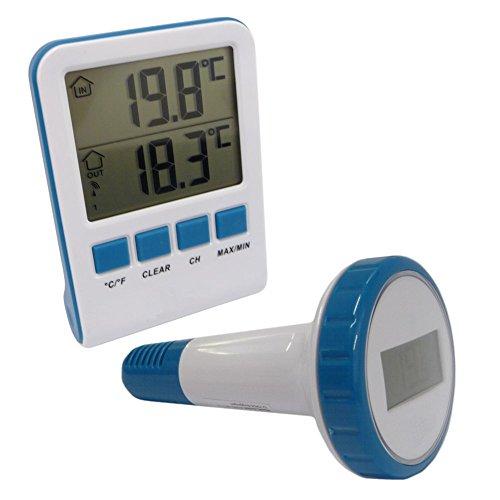 Digitales Teich- & Poolthermometer Schutzart IPX8 Funkreichweite bis 60m