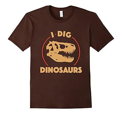Palaeontology T-Shirt | I Dig Dinosaurs Shirt Funny Dino Herren, Größe M Braun